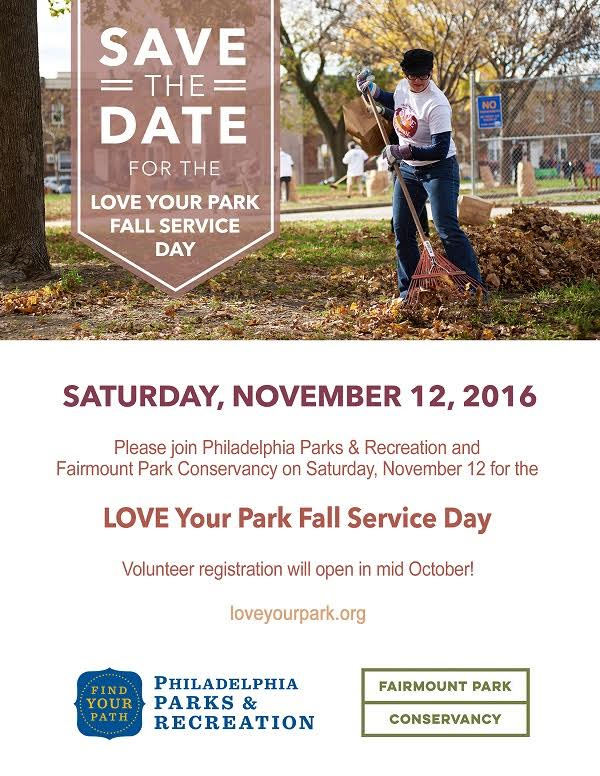 Love Your Park Fall Service Day 2016